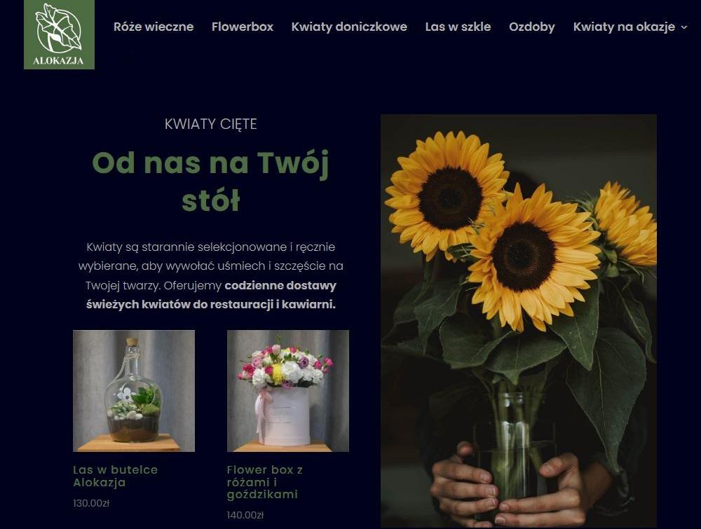 Nowa kwiaciarnia online Alokazja. Projekt XZT.PL