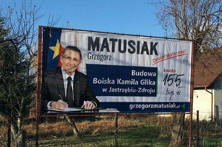 Kamil Glik do posła Matusiaka: sugeruję usunięcie billboardu
