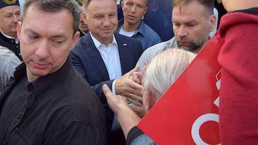 Andrzej Duda rozdawał kanapki w Jastrzębiu