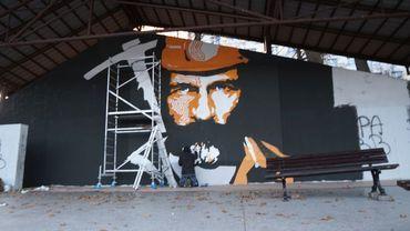 Ten mural to niespodzianka dla górników