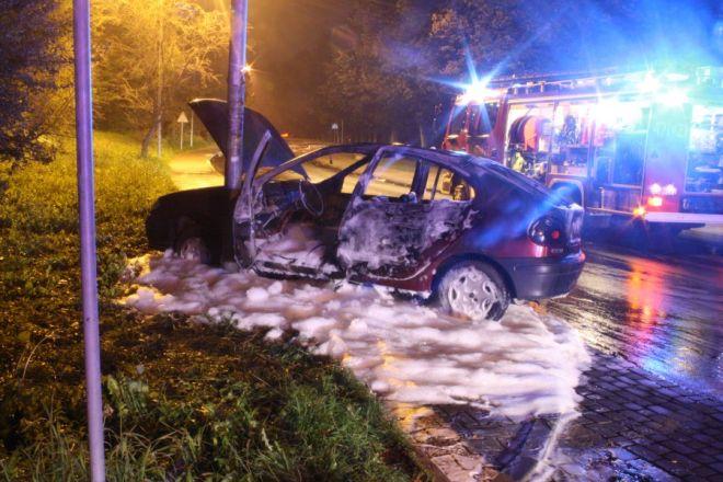 Podpalił samochód, bo chciał popełnić samobójstwo, KMP Jastrzębie-Zdrój