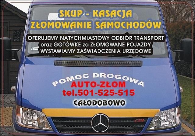 Auto-złom Jastrzębie skup-kasacja 24h Tel.501-525-515