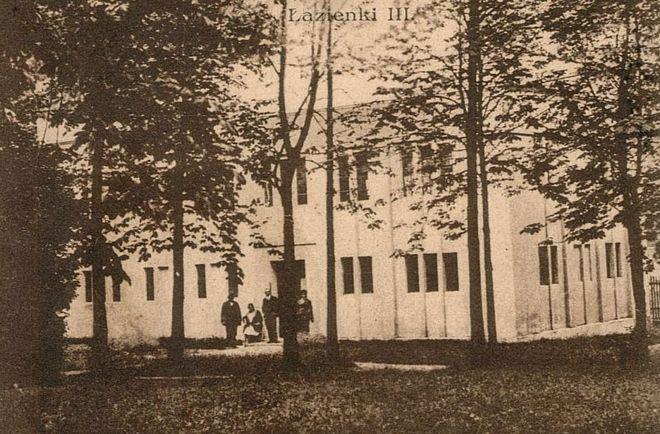 Tak wyglądał budynek Łazienek III przed wojną