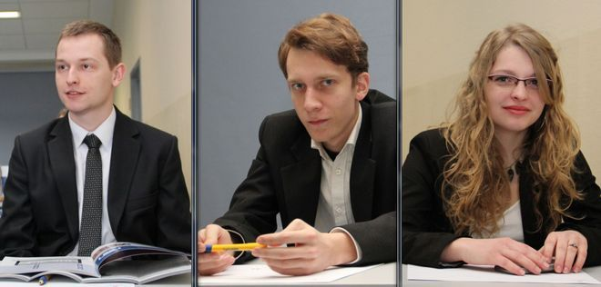 Kacper Caniboł, Maciej Adamski i Sylwia Brączek.