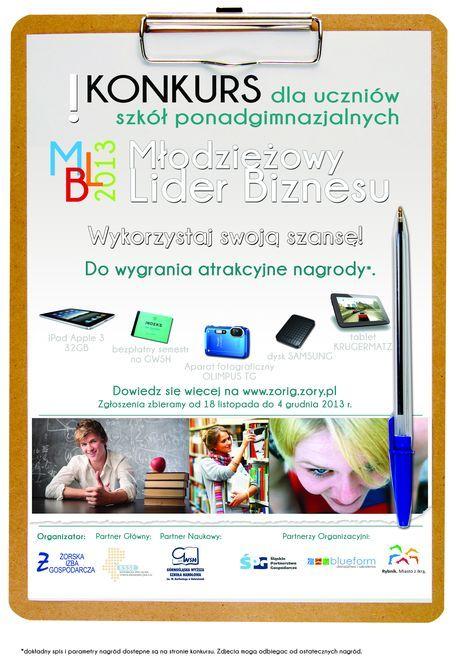 """Weź udział w konkursie """"Młodzieżowy Lider Biznesu 2014"""", Materiały prasowe"""