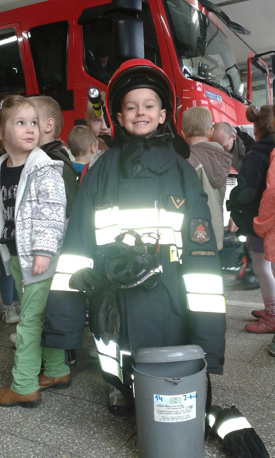 Przedszkolaki z wizytą u strażaków, materiały prasowe PP 6