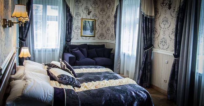 Taki pokój można wynająć w Pałacu w Boryni