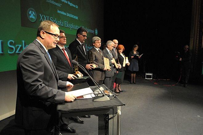 Nagrodę w imieniu prezesa Zagórowskiego odebrał Grzegorz Czornik, zastępca prezesa JSW ds. Handlu.