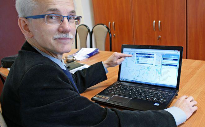 Na zdjęciu Marek Kiecka - informatyk w MZK Jastrzębie