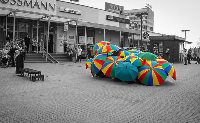 Flash mob do piosenki ''Singin' in the Rain''