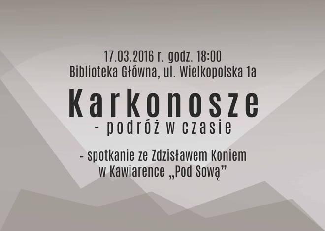 """Poznaj Karkonosze podczas spotkania w Kawiarence """"Pod Sową"""", materiały prasowe MBP Jastrzębie-Zdrój"""
