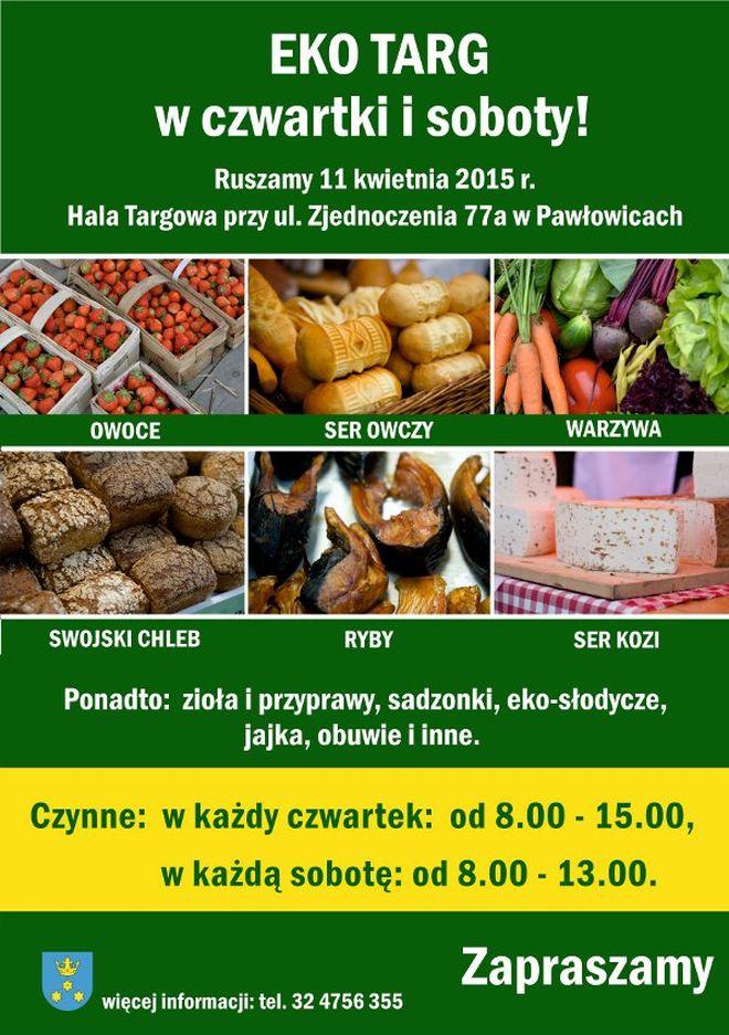 Wyroby prosto od lokalnych rolników dwa razy w tygodniu, UG w Pawłowicach