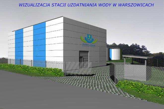 Wizualizacja stacji uzdatniania wody w Warszowicach