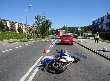 17-letni motocyklista trafił do szpitala, Źródło: KMP w Rybniku