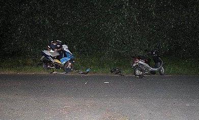 Na Zamkowej zderzyli się dwaj pijani motorowerzyści, Źródło: KMP w Jastrzębiu-Zdroju