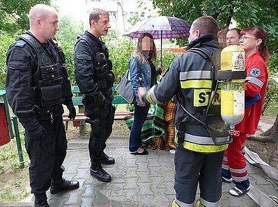 Sierż. Henryk Ciosek i st. post. Maciej Wróblewski po akcji