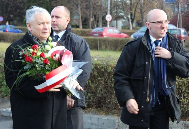 J. Kaczyński oddał hołd górnikom, pww