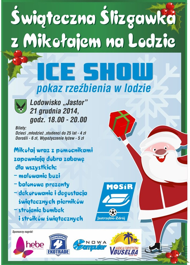 Rzeźbienie w lodzie już w niedzielę!, mat. pras.