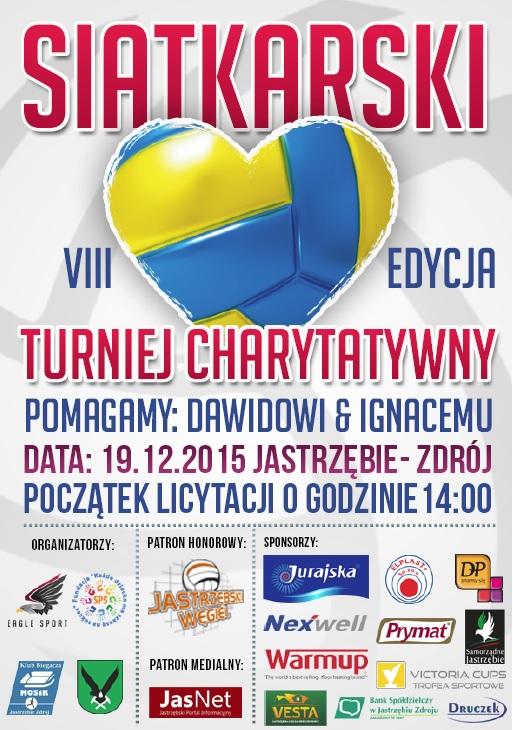 Plakat Siatkarskiego Turnieju Charytatywnego