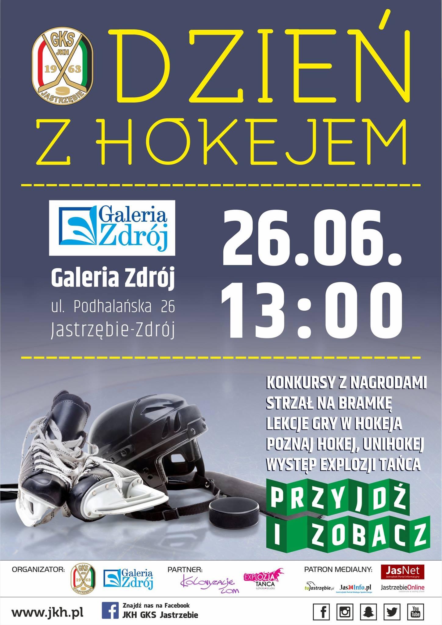 W niedzielę 26 czerwca JKH GKS Jastrzębie organizuje w Galerii Zdrój ''Dzień z hokejem''
