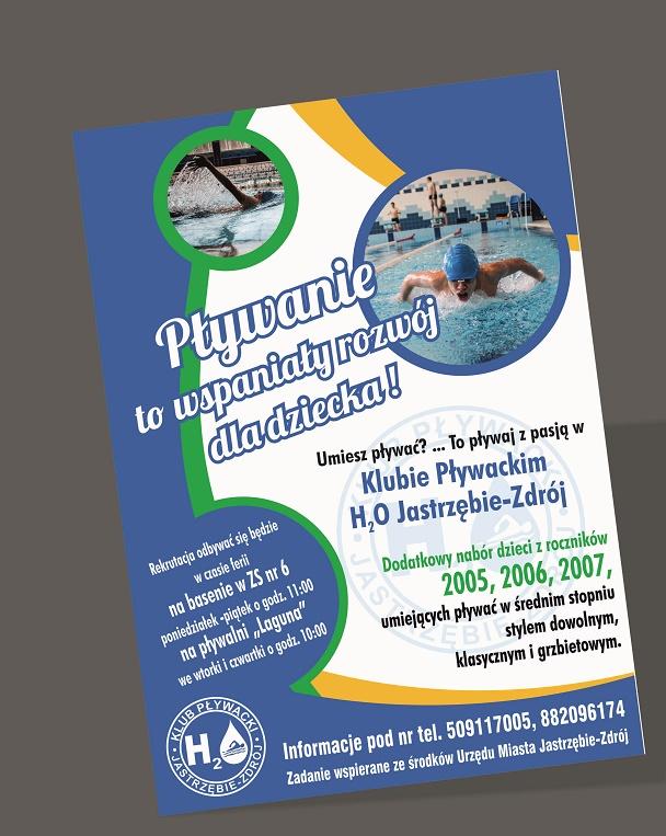 Klub pływacki H2O zachęca do zapisów dzieci z roczników 2005, 2006 i 2007, które chciałyby zostać zawodnikami klubu